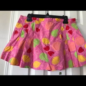 Lily Pulitzer strawberry and lemon skort size 10